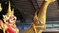 close up Royal Barges in bangkok thailand,HD