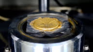 close up rubber compound testing in rotational rheometer