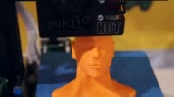 Close Up Shot 3D printer printing a sculpture of a man's head General views of the 2014 International Consumer Electronics Show in Las Vegas Nevada...
