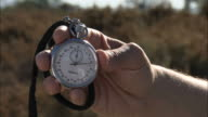 Close Up static - A hand holds a stopwatch / South Africa