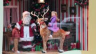 Close Up the windows in Macy's State Street store are decorated with traditional Christmas themes December 19 2013 in Chicago Illinois The iconic...
