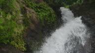 Close up, Tilt down, Waterfall, Lower Bouma Falls, cascading down mountain to water below