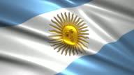 close up waving flag of Argentina,loopable
