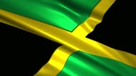close up waving flag of Jamaica,loopable
