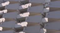 close up white balconies