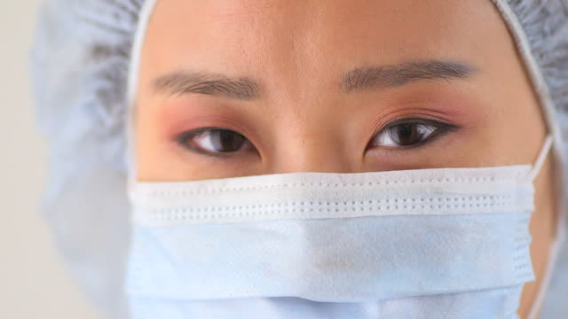 Closeup Chinese woman doctor