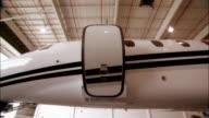 Close-up Door of private jet closing in hangar at Opa Locka Airport/ Miami, Florida, USA