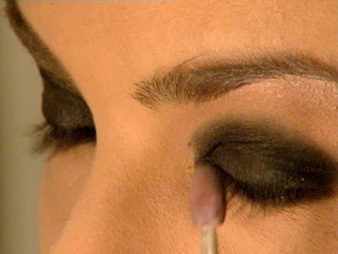 Close-up Model applying eyeshadow/ Belgrade, Serbia