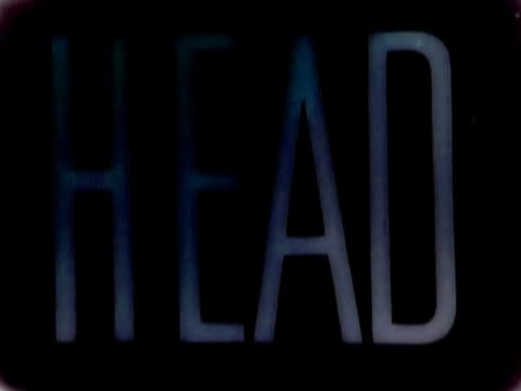 Close-up of a countdown on a film leader