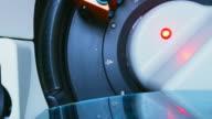 Close-up van bloed analyseapparatuur