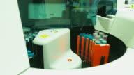 closeup of blood analysis equipment