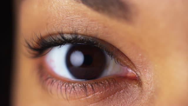 Closeup of brown eyes