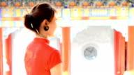 Closeup of chinese girl .