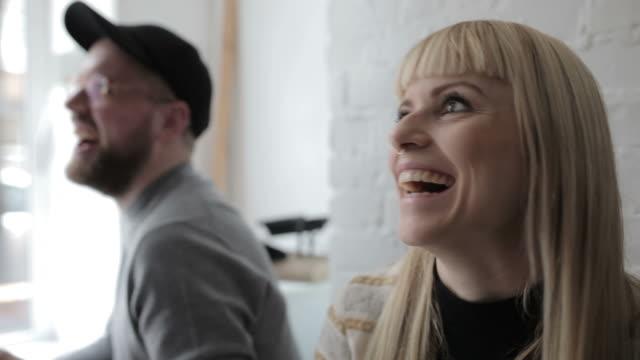 Closeup of creative business people