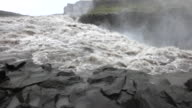 Close-up of Dettifoss waterfall in Iceland