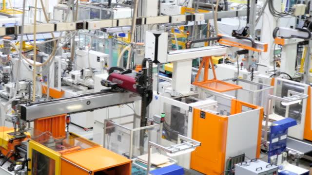 Close-up van futuristische robot machines
