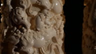 Closeup of ivory carvings in China