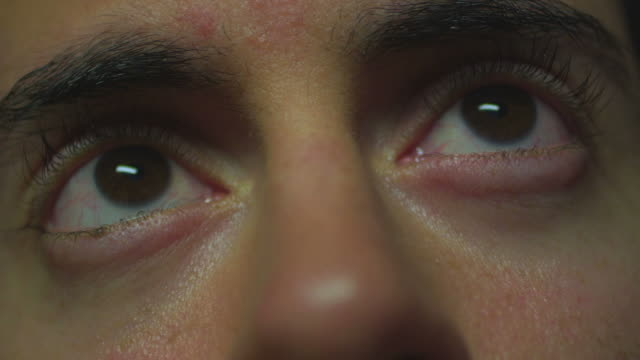 HD: Closeup of man's eyes