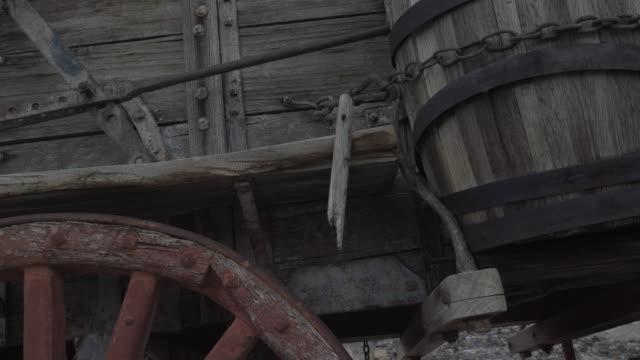 Closeup of old rustic wagon