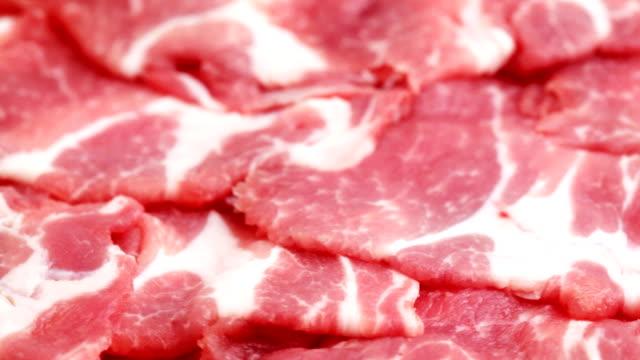 HD NTSC: Nahaufnahme von geschnittenen raw red meat (video