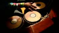 Closeup of Thai Musician playing Puang-Mang