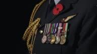 Closeup of war medals on soldier's uniform Closeup of war medals on soldier's uniform on April 25 2013 in Various Cities New Zealand