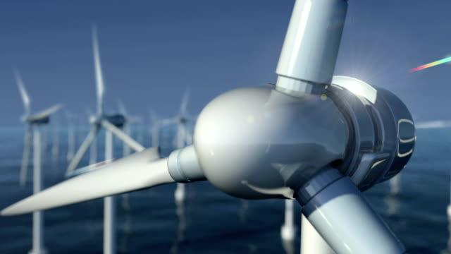 Close-Up of Wind Turbines at Sea #1