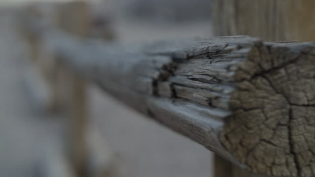 Closeup of wooden fence