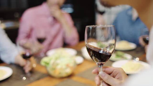 Closeup On Wine Glass in Toast