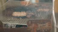 Close-up shot of BBQ. Yakitori,Yakiniku