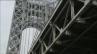 Closeup shots of aging infrastructure of the GWB at George Washington Bridge on May 01 2014 in New York City