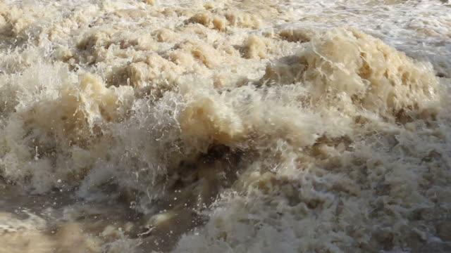 Close-up shots of turbid water.
