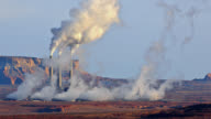 T/L Close-up view of a coal-fired powerplant / Page, Arizona, USA