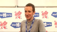 London concert backstage Bradley Wiggins interview SOT Talks of his reception / son asked him to take him swimming / looking forward to 2012 Olympic...
