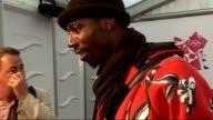 London concert backstage Idowu speaking to media