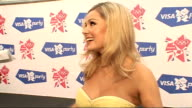 London concert backstage Catherine Jenkins interview SOT Talks of performing at concert / talks of Welsh success at the Olympic Games / talks of new...