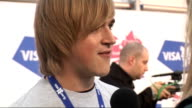 London concert backstage McFly speaking to press