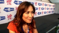 London concert backstage Myleene Klass interview SOT Talks of 'Last Choir Standing' programme / talks of knowing what the choirs are facing / talks...