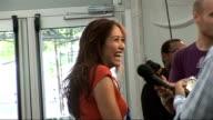 London concert backstage Singer Myleene Klaas speaking to media
