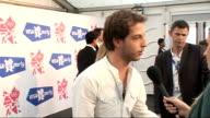 London concert backstage Singer James Morrison speaking to media