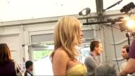 London concert backstage Singer Catherine Jenkins speaking to media