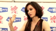 London concert backstage Sophie EllisBextor interview SOT Talks of her dress / talks of performing / talks of the Olympic Games / talks of short film...