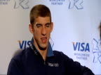 Closing ceremony / handover to London Michael Phelps press conference and interviews Michael Phelps interview SOT On how he is feeling now the...