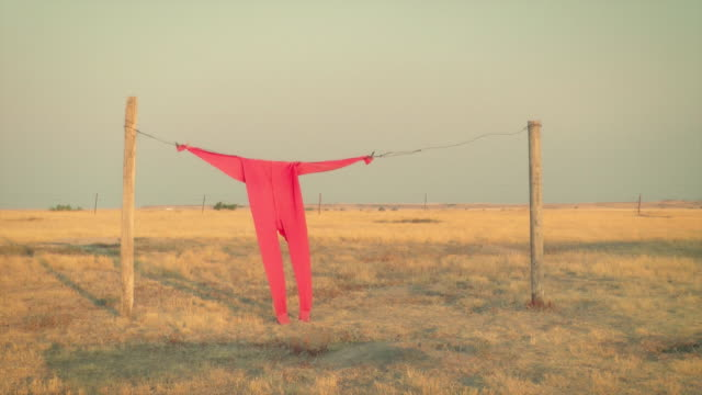 Clothesline and Red Long Johns