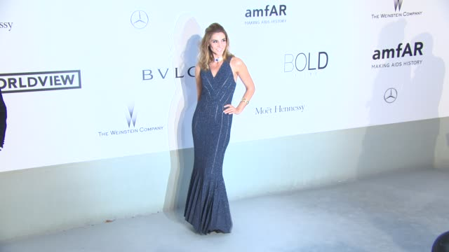 Clotilde Courau at AmfAR Red Carpet at Hotel du CapEdenRoc on May 22 2014 in Cap d'Antibes France