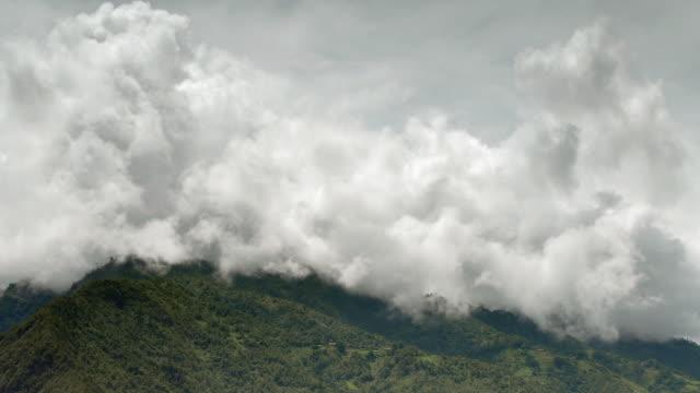Cloud billows over mountains, Yunnan, China