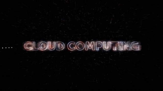 Cloud Computing words animation