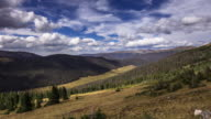Cloud Shadows Over Rocky Mountain Forest - Time Lapse