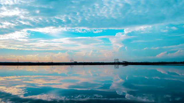 wolk lucht time-lapse in ochtend, 4K video