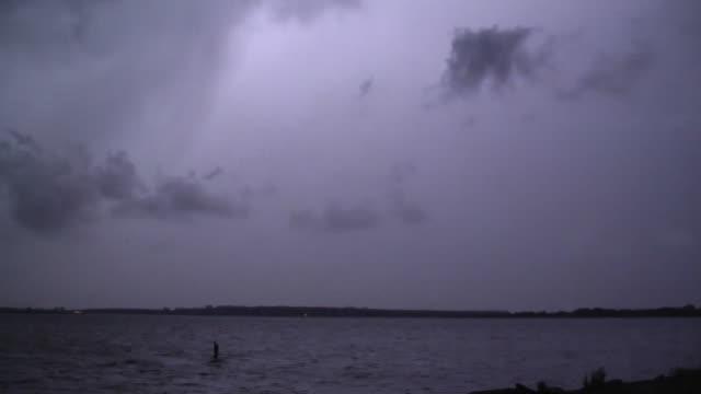 Cloud To Cloud Lightning, Night Time Thunderstorm